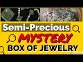 Goodwill Semi-Precious Box of Jewelry SILVER Gold? Pearls Unboxing Unjarring Unpacking
