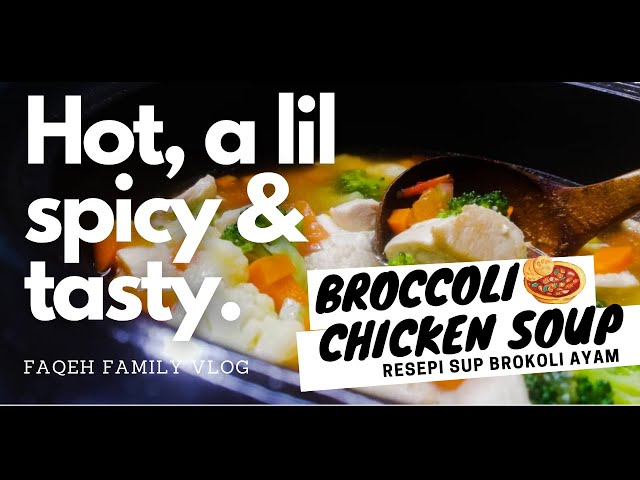 Broccoli Chicken Soup | Healthy Broccoli Soup