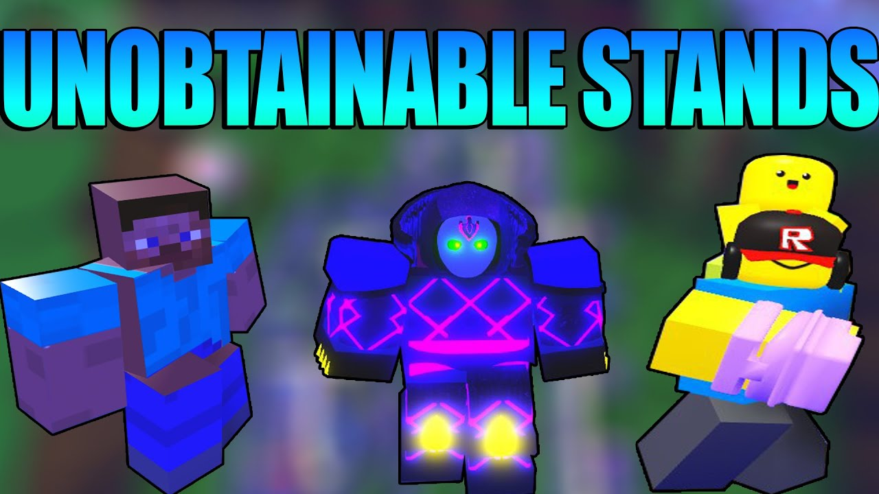 All Unobtainable Stands A Universal Time Roblox Youtube A universal time from noob to gaster master in one video. all unobtainable stands a universal