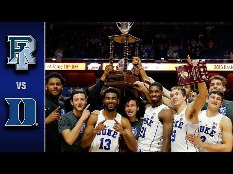 Duke vs. Rhode Island Men's Basketball Highlights (2016-17)