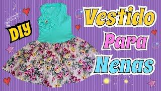 Como hacer un vestido para Nena Facil y bonito Costura DIY Tutorial