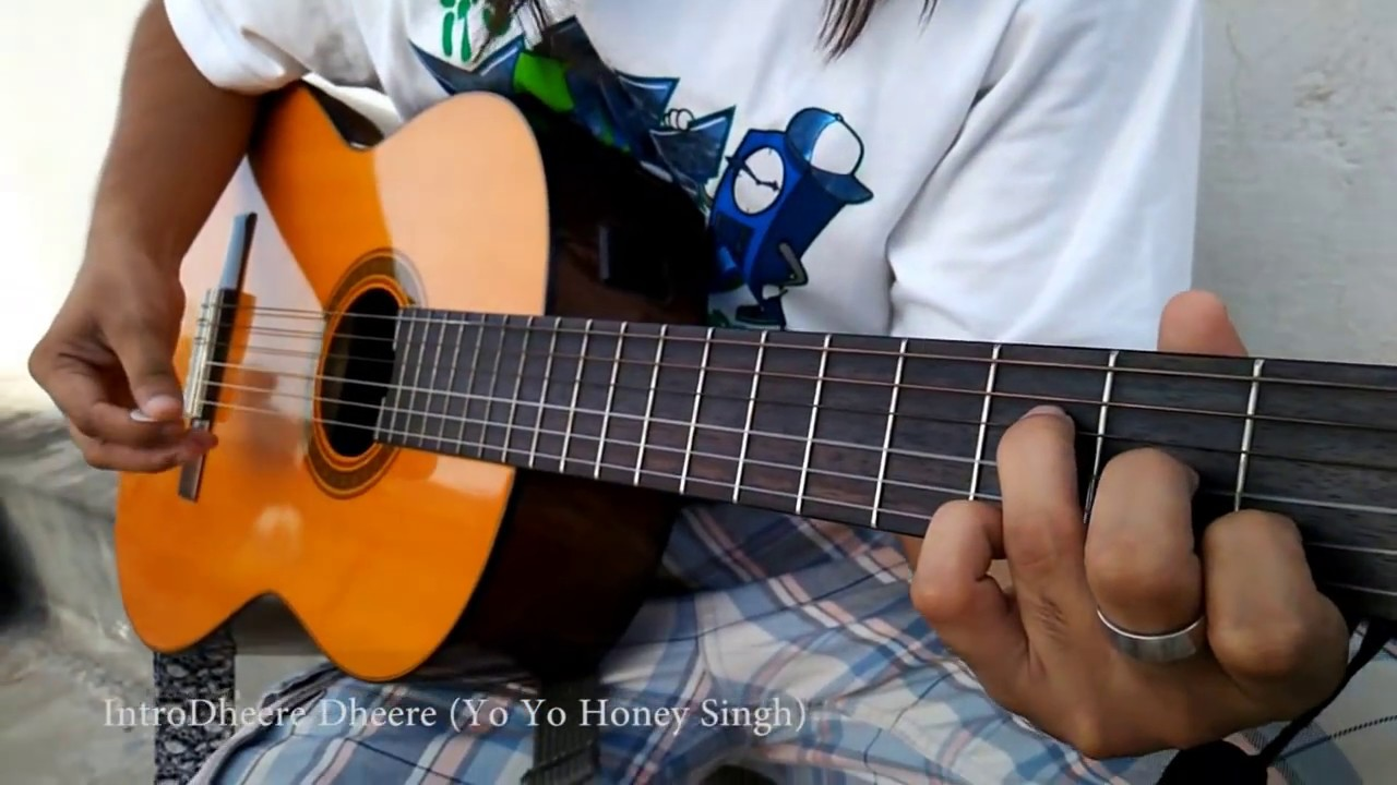 How To Play Dheere Dheere Guitar Intro Hrithik Roshan Sonam
