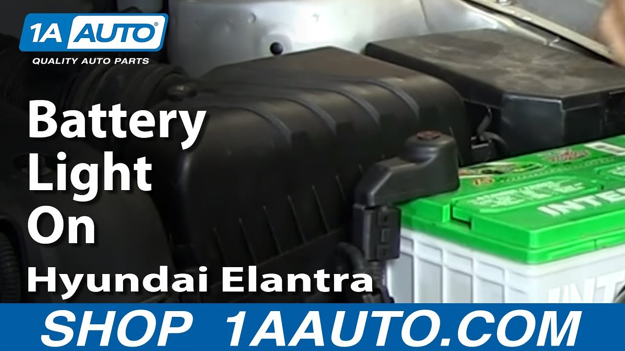Why Is My Battery Light On Alternator Fuse 2001 06 Hyundai Elantra 2011 Impala Box Repair Youtube