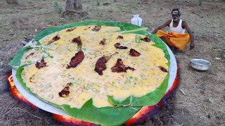 CHICKEN OMELETTE !!! King Size omelette prepared by my daddy Arumugam / Village food factory