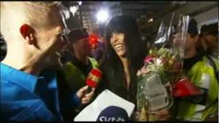 Loreen arriving in Sweden after Eurovision (Part 1/3)