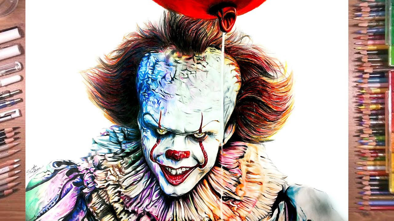 Drawing IT - Pennywise The Clown - YouTube