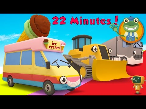Vicky The Ice Cream Truck and MORE Trucks for Children | Gecko's Garage