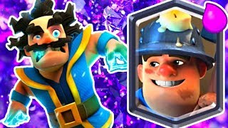 LOTTA LEGENDARIES! MINER & E WIZ! - Clash Royale