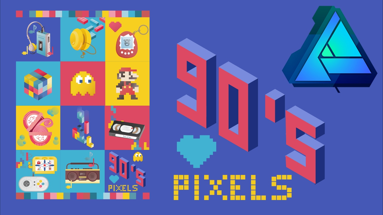 90s poster design - 90 S Pixels Speeded Up Poster Design From Start To Finish Affinity Designer