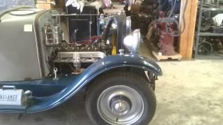 Premiers tours de roue Peugeot 183  moteur 6 cylindres
