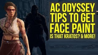 Assassin's Creed Odyssey Tips TO GET FACE PAINT, Is That Kratos? & More! (AC Odyssey Tips and tricks