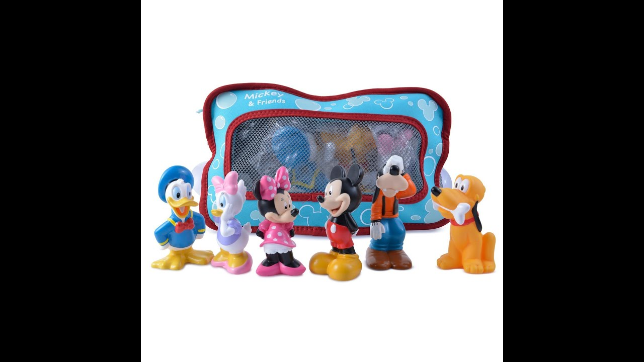 Disney Mickey Mouse and Friends Bath Toys - YouTube