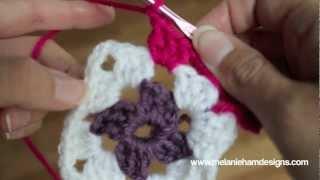 Repeat youtube video Crochet a Traditional Granny Square