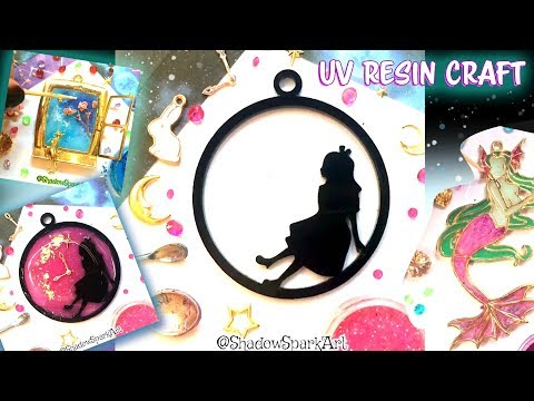 DIY Crafts with UV Resin and Polymer Clay - Coloring with Slime and Galaxy Glitter