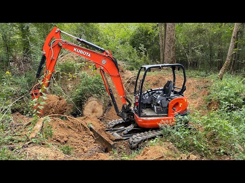 Excavator Down In A Creek   AMI JawBone Bucket In Action!
