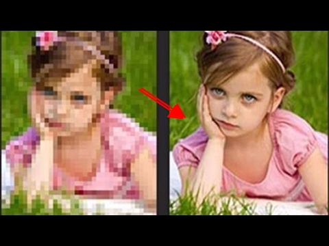 Low to High Quality  Resolution Photo Image  Photoshop