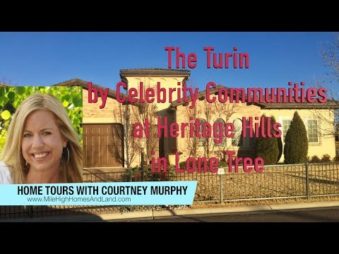 New Homes in Lone Tree Colorado - The Turin Model by Celebrity Communities at Heritage Hills