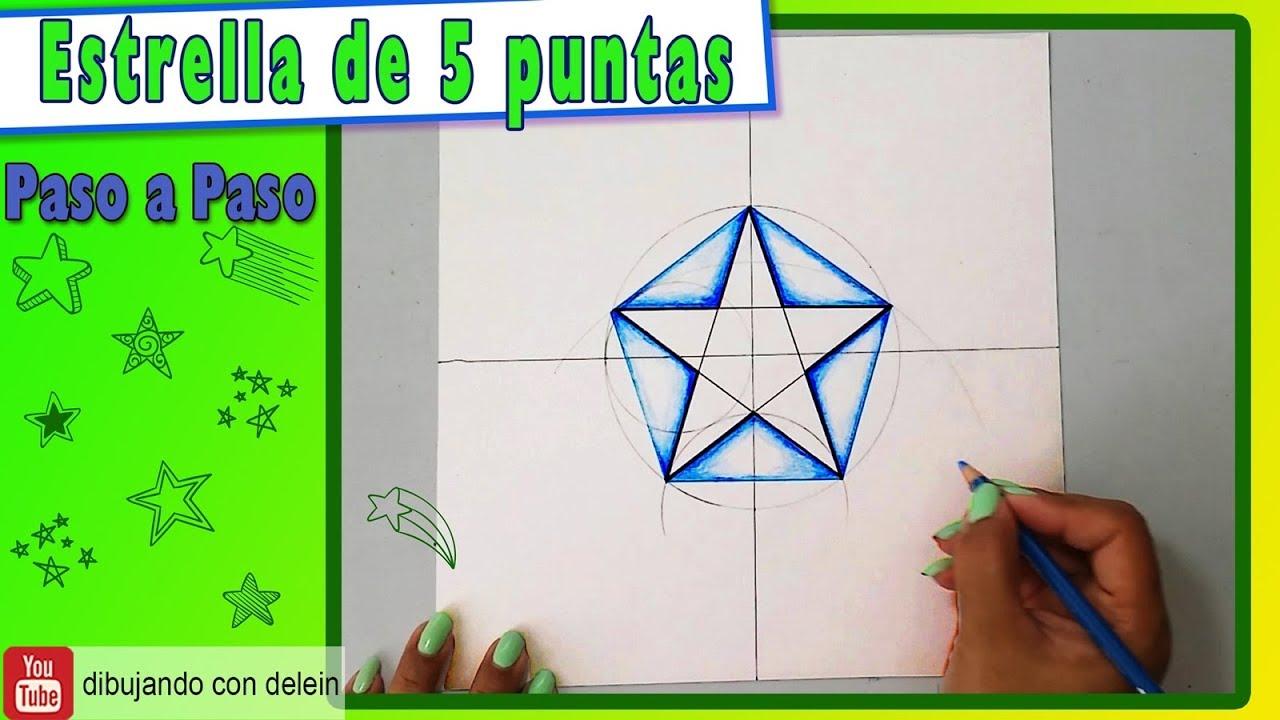 Como Dibujar Una Estrella De 5 Puntas Como Dibujar Un Pentágono Youtube
