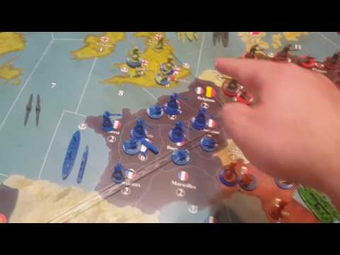 Axis and Allies 1914 Defeating France in 6 weeks or less