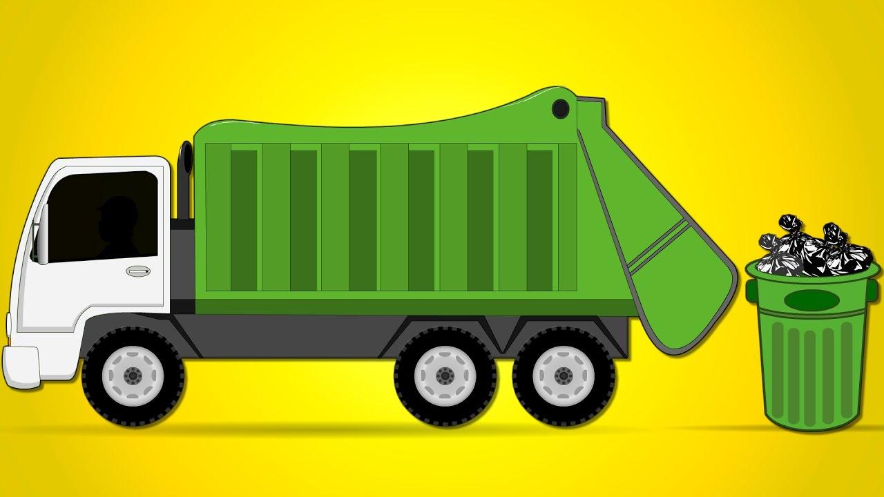 Garbage Truck Car Garage | Car Wash Videos | Street ...