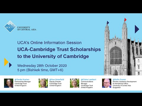 Online Information Session: UCA-Cambridge Trust Scholarships