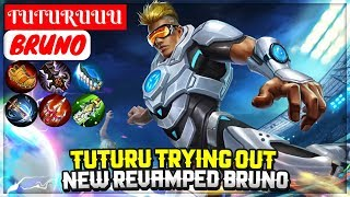 Tuturu Trying Out New Revamped Bruno [ TUTURUUU Bruno ] Mobile Legends