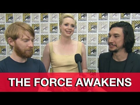 Star Wars The Force Awakens Interview - Adam Driver, Gwendoline Christie & Domhnall Gleeson