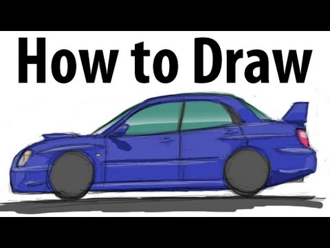 Cobra R Wheels >> How to draw a Subaru Impreza WRX STi (2005) - Sketch it ...
