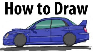 How to draw a Subaru Impreza WRX STi (2005)  - Sketch it quick!
