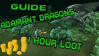 1 Hour of Adamant Dragons + Guide | Runescape 2015