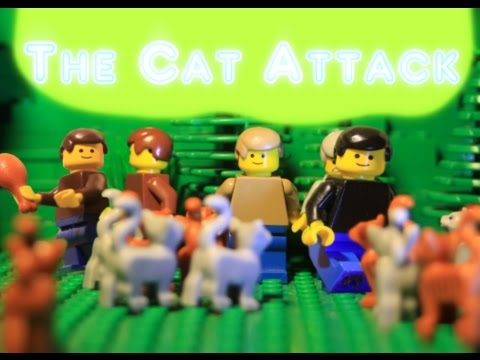 the cat attack part 2 (lego animation)