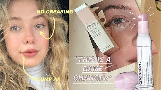 NEW GLOSSIER BUBBLEWRAP EYE/LIP CREAM !!! Review + Discount Code