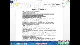 Học Word 2013 | Bài 3 - Sao chép, Di chuyển, Dán văn bản trong Word 2013