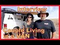 Couple (Ann and Guy) Living in a Ford Van: INTERVIEW