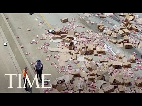 Pizza Truck Spills Boxes Of Pizza Across Interstate In Arkansas, Making A Slippery Situation   TIME