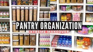 PANTRY ORGANIZATION IDEAS | Clean, Declutter and Organize With Me 2020 | Pantry Organization