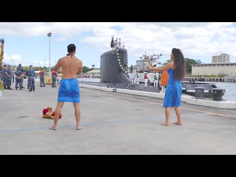 Submarine USS Hawaii Homecoming Ceremony