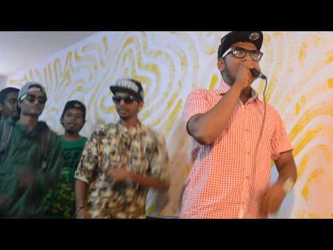 MC Bijju performing  in blore underground with Martin Yo