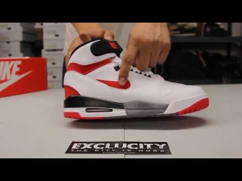Nike Air Revolution White - Black - Varsity Red Unboxing Video at Exclucity