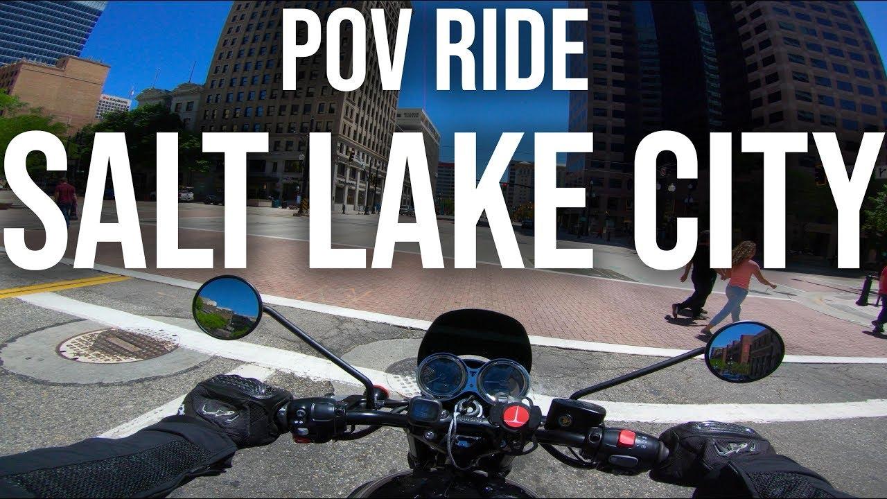 POV Ride -  Downtown Salt Lake City - 2018 Triumph Bonneville T120 Black