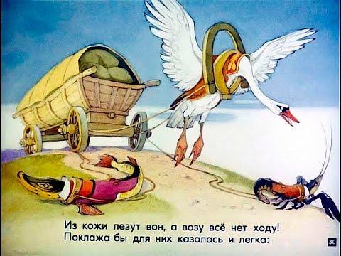 Басни Крылова - мультфильм книга для детей - Сказки для детей - Чудо Книжка от AmayaKids
