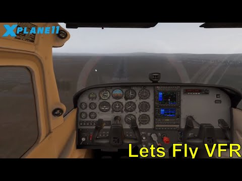 X Plane 11  - Warooka to Port Lincoln Flight - Over water!