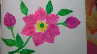 Vegetable impression painting:how to draw a beautiful flower using onion