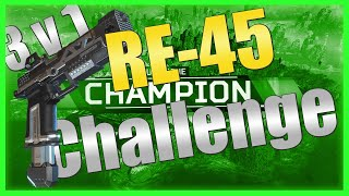 [Apex Legends Gameplay] RE-45 ONLY CHALLENGE (3v1 SQUADS)