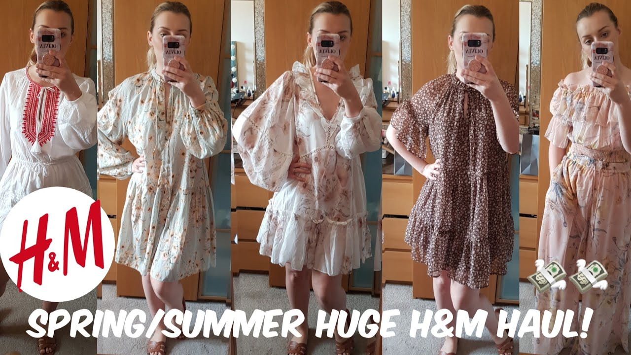 HUGE H&M HAUL & TRY ON // SPRING/SUMMER 2019 // CUTE SPRING OUTFITS LOOKBOOK 1