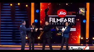 2017 Kapil Sharma And Salman Khan And Shahruk Khan And Karan Johar Funny Moments In Filmfare Awards