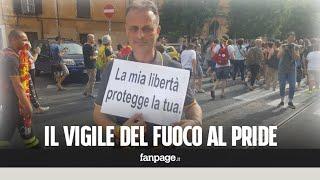 Roma. Vigile del fuoco partecipa al Gay Pride in divisa: