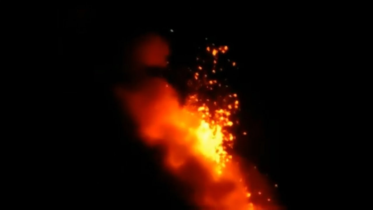 Lava flows from Philippines' most active volcano