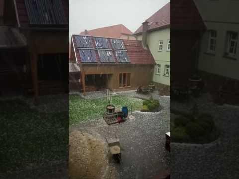 Unwetter Hagelschlag Magdala 2017 Solaranlagenschaden