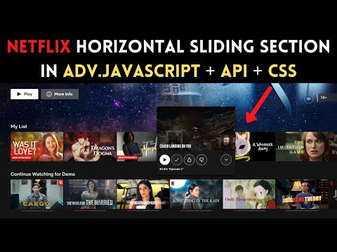 Netflix Slider using JavaScript and CSS